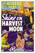 "Movie Posters:Western, Shine on Harvest Moon (Republic, 1938). One Sheet (27"" X 41""). RoyRogers is caught up in the middle of a range feud. Rogers..."