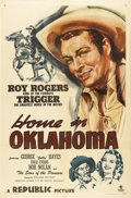"Movie Posters:Western, Home in Oklahoma (Republic, 1946). One Sheet (27"" X 41""). Roy Rogers and Trigger ride across the silver screen again. This p..."