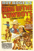 "Movie Posters:Western, King of the Cowboys (Republic, 1943). One Sheet (27"" X 41""). It's World War II, and Roy Rogers is called in by the Governor ..."