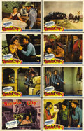 "Movie Posters:Western, Nevada City (Republic, 1941). Lobby Card Set of 8 (11"" X 14""). RoyRogers and Gabby Hayes are cast as stagecoach drivers in ...(Total: 8 Items)"