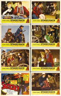 "Movie Posters:Western, Stagecoach (United Artists, R-1948). Lobby Card Set of 8 (11"" X14""). John Ford's classic Western was reissued in 1948 as Jo...(Total: 8 Items)"