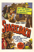 "Movie Posters:Western, Stagecoach (United Artists, R-1948). One Sheet (27"" X 41"").Relegated to B Westerns for the first ten years of his career, J..."