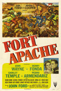"Movie Posters:Western, Fort Apache (RKO, 1948). One Sheet (27"" X 41""). The first of JohnFord's ""cavalry trilogy"" is an examination of military hon..."