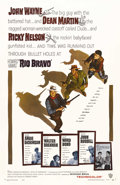 "Movie Posters:Western, Rio Bravo (Warner Brothers, 1959). One Sheet (27"" X 41""). HowardHawks directed this legendary Western with his usual bravad..."