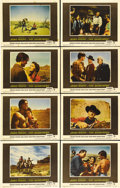 "Movie Posters:Western, The Searchers (Warner Brothers, 1956). Lobby Card Set of 8 (11"" X14""). John Ford and John Wayne created one of the best 50s...(Total: 8 Items)"