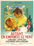 """Movie Posters:Romance, Gone with the Wind (MGM, R-1950s). French Grande (47"""" X 63""""). Thisadaptation of Margaret Mitchell's classic novel of the Ol..."""