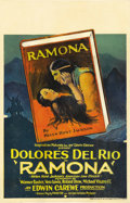 "Movie Posters:Romance, Ramona (United Artists, 1928). Window Card (14"" X 22""). Dolores Del Rio was once described as ""one of the most beautiful wom..."