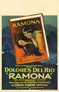 """Ramona (United Artists, 1928). Window Card (14"""" X 22""""). Dolores Del Rio was once described as """"one of the..."""