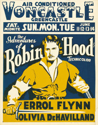 """The Adventures of Robin Hood (Warner Brothers, 1938). Jumbo Window Card (22"""" X 28""""). In order to avoid the mat..."""
