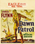 "Movie Posters:War, Dawn Patrol (Warner Brothers, 1938). Jumbo Window Card (22"" X 28"").Errol Flynn, David Niven and Basil Rathbone star in this..."