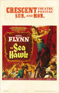 "Movie Posters:Adventure, The Sea Hawk (Warner Brothers/First National, 1940). Window Card(14"" X 22""). Under the direction of Michael Curtiz, Errol F..."