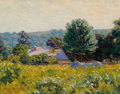 Fine Art - Painting, American, EDWARD HERBERT BARNARD (American, 1855-1909). Home Place.Oil on canvas. 14 x 18 inches (35.6 x 45.7 cm). Signed lower l...