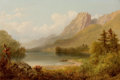 Fine Art - Painting, American:Antique  (Pre 1900), RUSSELL SMITH (American, 1812-1896). The Old Man's Basin,Franconia Notch, New Hampshire, 1876. Oil on canvas. 12 x 18i...