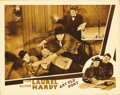 "Movie Posters:Comedy, Any Old Port (MGM, 1932). Lobby Card (11"" X 14""). Stan Laurel andOliver Hardy are both seen in this moment from one of the ..."