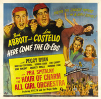 """Here Come the Co-eds (Universal, 1945). Six Sheet (81"""" X 81""""). This Abbott and Costello comedy was one of only..."""