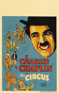 "The Circus (United Artists, 1928). Window Card (14"" X 22""). Charlie Chaplin both directed and starred in this..."
