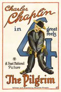 """Movie Posters:Comedy, The Pilgrim (First National, 1921). One Sheet (27"""" X 41"""").Considered to be one of Charlie Chaplin's better shorts, it hasC..."""
