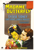 "Movie Posters:Drama, Madame Butterfly (Paramount, 1932). One Sheet (27"" X 41"") Style A.Cary Grant and Sylvia Sidney star in this non-musical ver..."