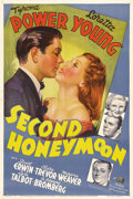 """Movie Posters:Comedy, Second Honeymoon (20th Century Fox, 1937). One Sheet (27"""" X 41"""").Flighty Loretta Young has to choose between boring second ..."""