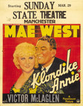 "Movie Posters:Comedy, Klondike Annie (Paramount, 1936). Jumbo Window Card (22"" X 28"").Raoul Walsh directs Mae West as beautiful Rose Carlton, a k..."