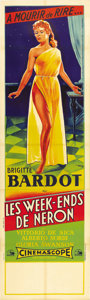 """Movie Posters:Comedy, Nero's Mistress (Les Films Marceau, 1957). French Pantalon (23.5"""" X78.75""""). Made the same year as """"And God Created Woman,"""" ..."""