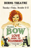 "Movie Posters:Comedy, Love Among the Millionaires (Paramount, 1930). Window Card (14"" X22""). Clara Bow became the symbol of the ""Flapper Age"" as ..."