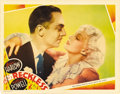 "Movie Posters:Drama, Reckless (MGM, 1935). Lobby Card (11"" X 14""). Jean Harlow portraysa showgirl, torn between the affections of the two men in..."