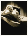 "Movie Posters:Miscellaneous, Jean Harlow - George Hurrell Studio Portrait (MGM, 1936). Still(11"" X 14""). Jean was labeled a ""screen siren"" for her sensa..."