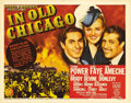 "Movie Posters:Drama, In Old Chicago (20th Century Fox, 1937). Title Lobby Card (11"" X 14""). Tyrone Power, Alice Faye and Don Ameche star in this ..."
