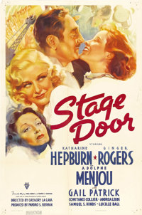 """Stage Door (RKO, 1937). One Sheet (27"""" X 41""""). RKO, with director Gregory LaCava, pulled together a remarkable..."""