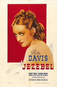 "Jezebel (Warner Brothers, 1938). One Sheet (27"" X 41""). Directed by William Wyler, the film was nominated for..."