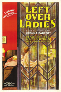 "Leftover Ladies (Tiffany, 1931). One Sheet (27"" X 41""). Claudia Dell, Dorothy Revier, Walter Byron and Alan Mo..."