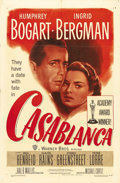 "Movie Posters:Drama, Casablanca (Warner Brothers, R-1949). One Sheet (27"" X 41""). Thislovely duotone one sheet is from the first re-release of t..."