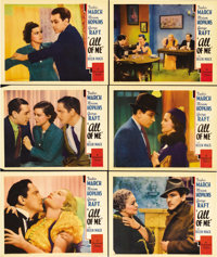 "All of Me (Paramount, 1934). Lobby Cards (6) (11"" X 14""). Teacher Fredric March and his student/mistress Miria..."