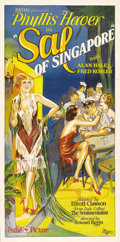 "Movie Posters:Drama, Sal of Singapore (Pathe Exchange Inc., 1928). Three Sheet (41"" X81""). Phyllis Haver plays Sal, a ""working girl"" who is coax..."