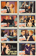 "Movie Posters:Drama, The House on 56th Street (Warner Brothers, 1933). Lobby Card Set of8 (11"" X 14""). Beautiful set of near mint cards for this... (Total:8 Items)"