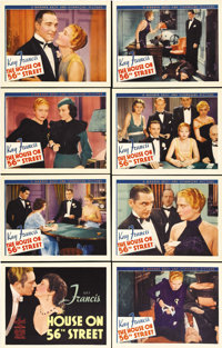 """The House on 56th Street (Warner Brothers, 1933). Lobby Card Set of 8 (11"""" X 14""""). Beautiful set of near mint..."""