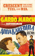 "Movie Posters:Drama, Anna Karenina (MGM, 1935). Window Card (14"" X 22""). Classic posterfor a classic Greta Garbo film co-starring Fredric March ..."