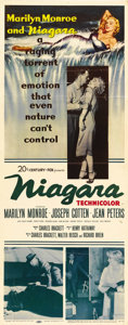 "Movie Posters:Drama, Niagara (20th Century Fox, 1953). Insert (14"" X 36""). MarilynMonroe and Joseph Cotten star as a murderous married couple pl..."