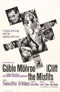 """Movie Posters:Comedy, The Misfits (United Artists, 1961). One Sheet (27"""" X 41""""). A classic tale of a depressive divorcee played by Marilyn Monroe,..."""