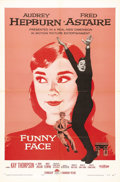 """Movie Posters:Romance, Funny Face (Paramount, 1957). One Sheet (27"""" X 41""""). Paris provides the backdrop for this wonderful musical romance that ble..."""
