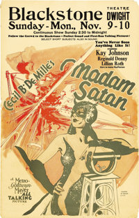 """Madam Satan (MGM, 1930). Window Card (14"""" X 22""""). Directed by Cecil B DeMille, this pre-code melange of musica..."""