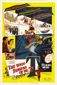 "The 5000 Fingers of Dr. T (Columbia, 1953). One Sheet (27"" X 41""). Surreal children's adventure based on the s..."