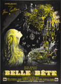 "Movie Posters:Fantasy, La Belle et la Bête (DisCina, 1946). French Grande (47"" X 63"").When Jean Cocteau directed ""La Belle et la Bete"" (Beauty and..."