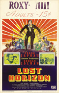 "Movie Posters:Fantasy, Lost Horizon (Columbia, 1937). Window Card (14"" X 22""). This filmwas director Frank Capra's ""Titanic"" epic of its day. Cost..."