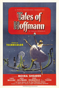 """Tales of Hoffmann (Lopert Films, 1951). One Sheet (27"""" X 41""""). After the amazing success of """"The Red Shoe..."""