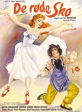 "Movie Posters:Fantasy, The Red Shoes (Eagle-Lion, 1948). Danish Poster (24"" X 33.5""). Thislovely ballet film by Michael Powell and Emeric Pressbur..."