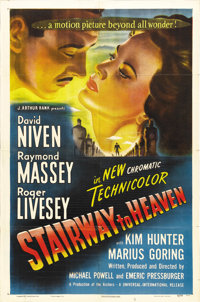 "Stairway to Heaven (Eagle Lion, 1946). One Sheet (27"" X 41""). More famous today as ""A Matter of Life and..."