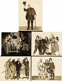 """The Wizard of Oz (MGM, 1939). Deluxe Stills (5) (10.25"""" X 13.25"""" and 11"""" X 14""""). Beautiful selection..."""