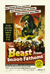 """The Beast From 20,000 Fathoms (Warner Brothers, 1953). One Sheet (27"""" X 41""""). As a result of an arctic nuclear..."""